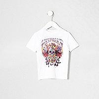 Mini boys white Metallica band print T-shirt
