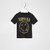 Graues T-Shirt mit Nirvana-Motiv