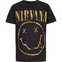 Boys dark grey 'Nirvana' rock band T-shirt