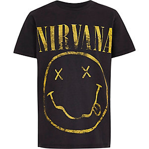 Boys dark grey 'Nirvana' rock band T-shirt