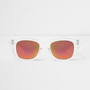 Transparente, verspiegelte Sonnenbrille