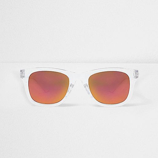 Mini boys clear retro mirror lens sunglasses