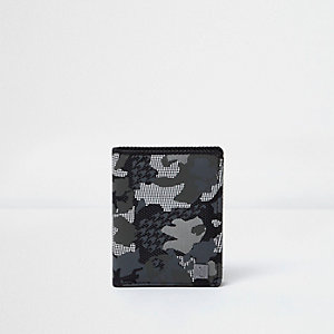 Boys khaki grey camo print wallet