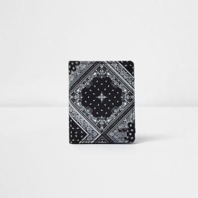 Zwarte portemonnee met bandanaprint voor jongens