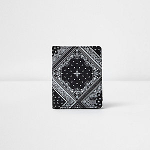 Boys black bandana print wallet