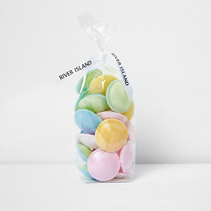 Multicolored flying saucer candy