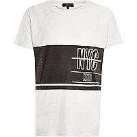 Weißes T-Shirt mit NYC-Print