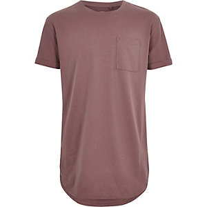 Boys dark pink casual T-shirt