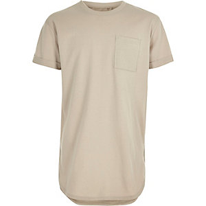 Boys beige casual T-shirt