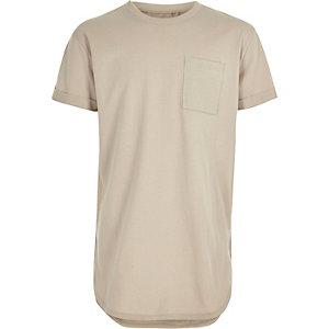Boys beige casual T-shirt