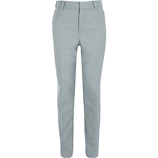 Boys light blue suit trousers