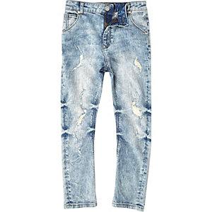 Boys light blue slouch Tony ripped jeans