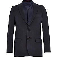 Boys navy blue suit jacket