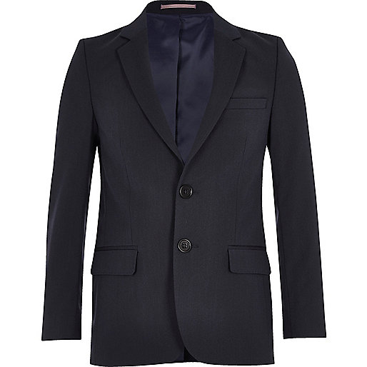 Boys navy blue suit jacket