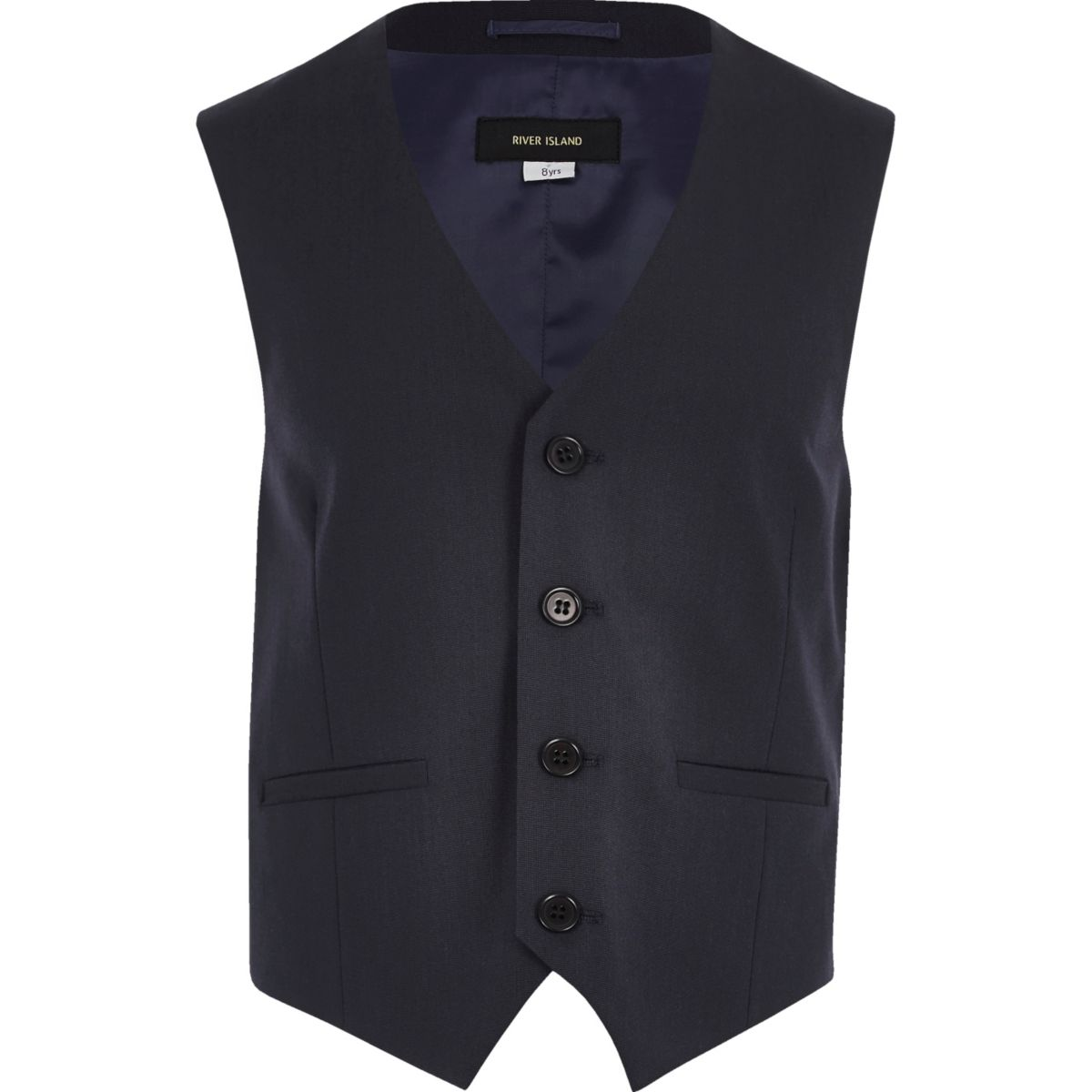 Boys navy blue suit vest