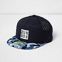RI Active – Marineblaue Kappe mit geometrischem Muster