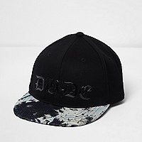 Boys black tie dye dude cap