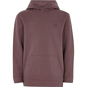 Boys pink skull print hoodie