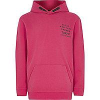 Boys pink hoodie