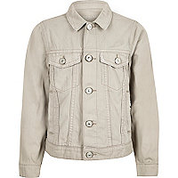 Boys cream denim jacket