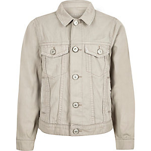 Jeansjacke in Creme