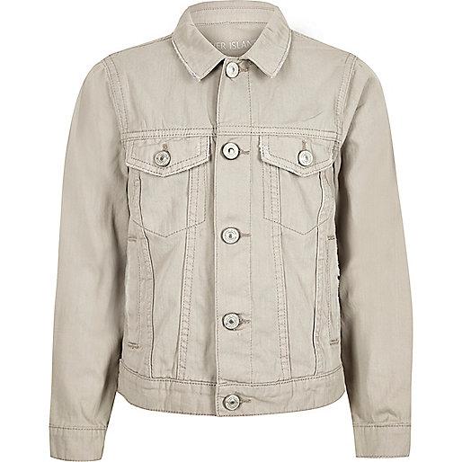 Boys cream denim jacket