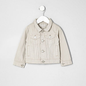Mini boys cream denim jacket