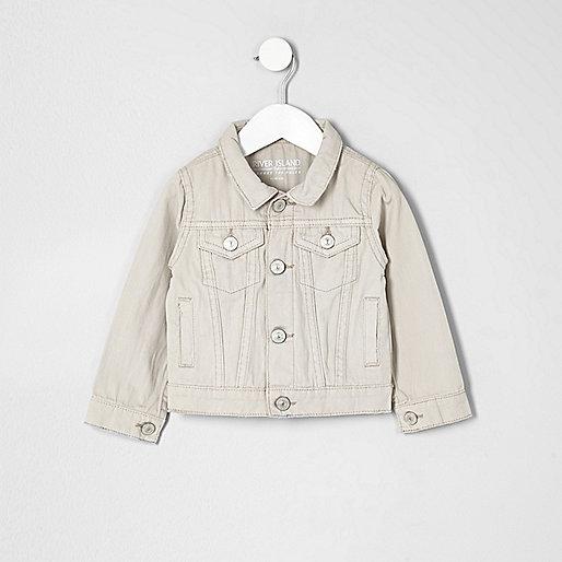 Mini boys cream denim jacket