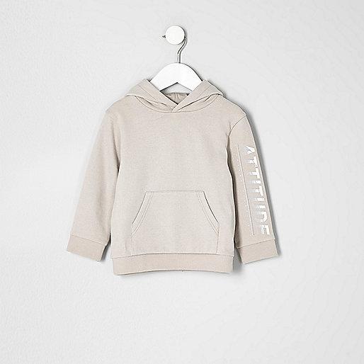 Mini boys stone 'attitude' hoodie