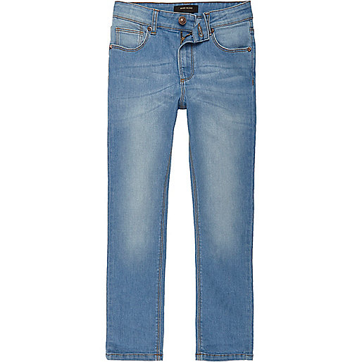 Levi's Big Boys Skinny Distressed Jeans - Blue 12 Levi's customized these jeans with a slimmer leg for a clean, versatile look more Set Price Alert  .