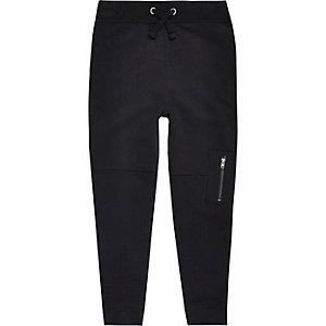 Pantalon de jogging noir style motard pour garçon