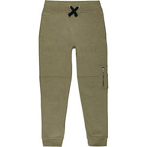 Pantalon de jogging kaki style motard pour garçon