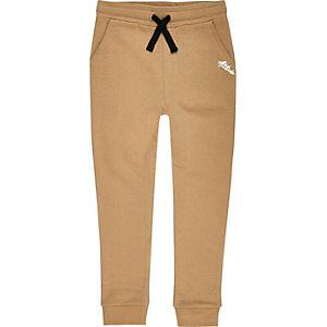 Pantalon de jogging imprimé contrastant marron pour garçon