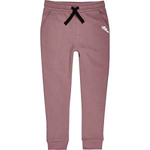 Pantalon de jogging violet à imprimé contrastant pour garçon