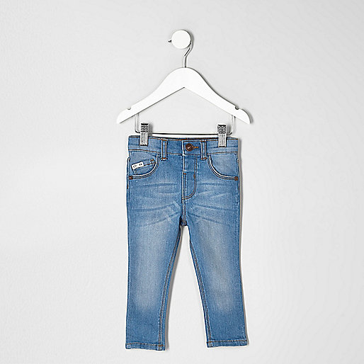 Mini boys blue Sid skinny fit jeans