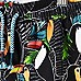 Mini boys black toucan print swim trunks