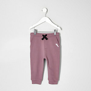 Pantalon de jogging violet contrastant mini garçon