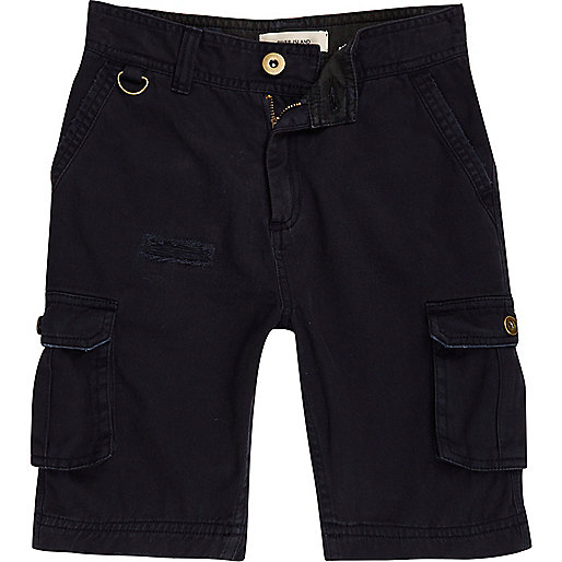 Boys navy cargo shorts