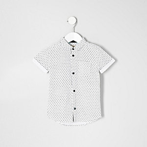Mini boys skull print shirt