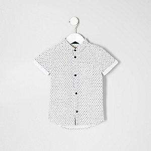 Mini - overhemd met doodshoofdprint voor jongens