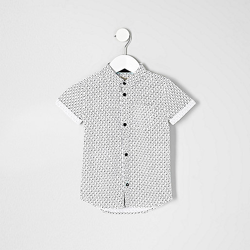 Mini boys skull print shirt