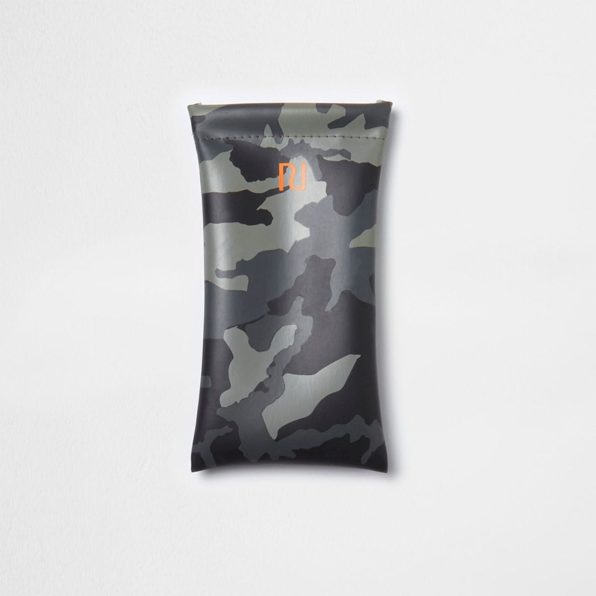 Étui à lunettes imprimé camouflage kaki pour garçon