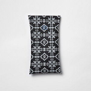 Boys black bandana print sunglasses case