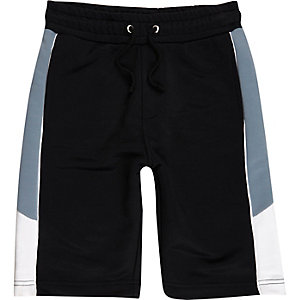 Boys navy panel sports shorts