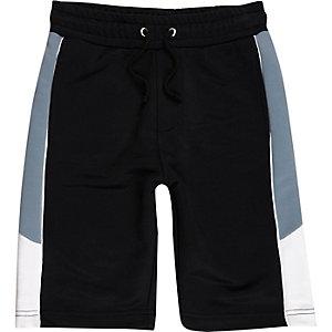 Boys navy panel sports shorts