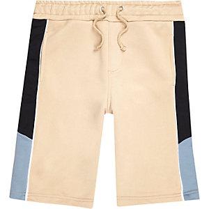 Short beige contrastant sport pour garçon