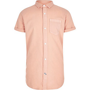 Boys orange short sleeve Oxford shirt