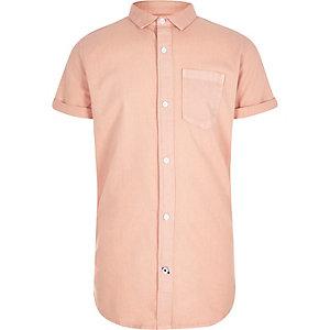 Boys orange short sleeve Oxford shirt