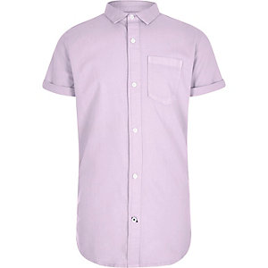 Boys purple short sleeve Oxford shirt