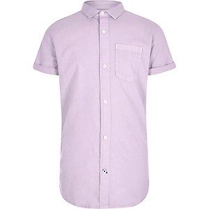 Boys purple short sleeve Oxford shirt